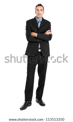 Mature businessman full length