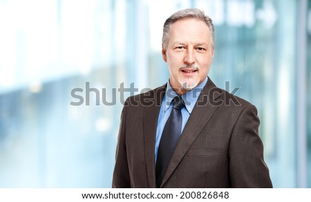 Mature businessman smiling  - stock photo