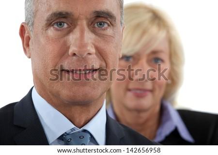 Mature businesspartners - stock photo