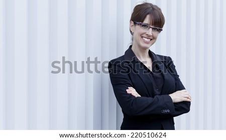 Mature Businesswoman Smiling - stock photo