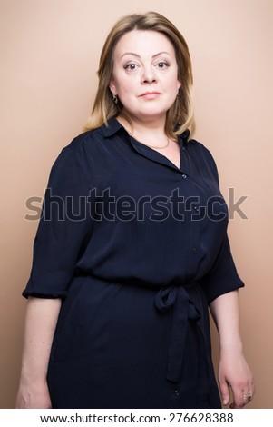 mature confident woman - stock photo