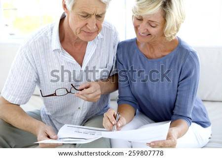 Mature couple doing Home Finance