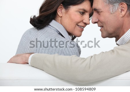 Mature couple on a sofa