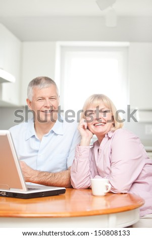 Mature Couple Using Computer