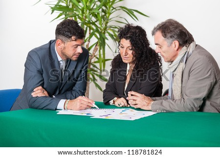 Mature Couple with Financial Consultant