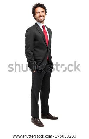 Mature handsome businessman full length portrait  - stock photo