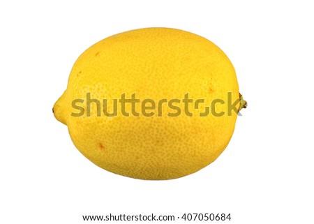 Mature lemon isolated over white background - stock photo