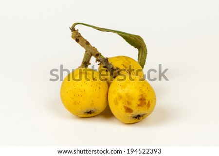 Mature loquats in the table