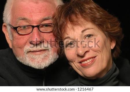 Mature loving happy couple - stock photo