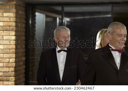 Mature Man at the Theater