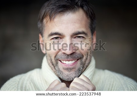 Mature Man Smiling - stock photo