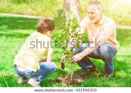 Boy mature teaching