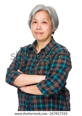 Mature old lady - stock photo