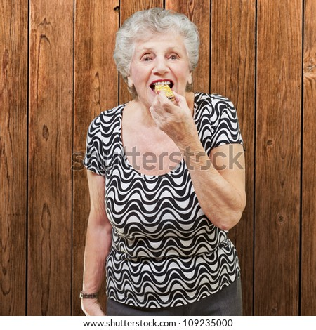 Mature Woman Eating, Indoor