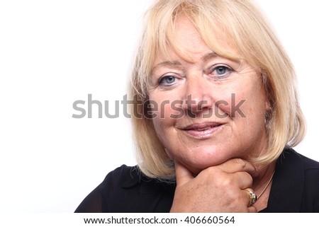 Mature woman posing - stock photo