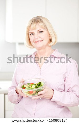 Mature Woman With Salad