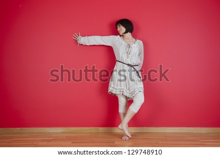 mature women in her new house - stock photo