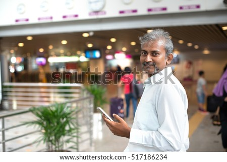 matured indian male at aiport