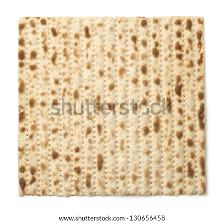 Matzoh, the jewish bread isolated on white - stock photo