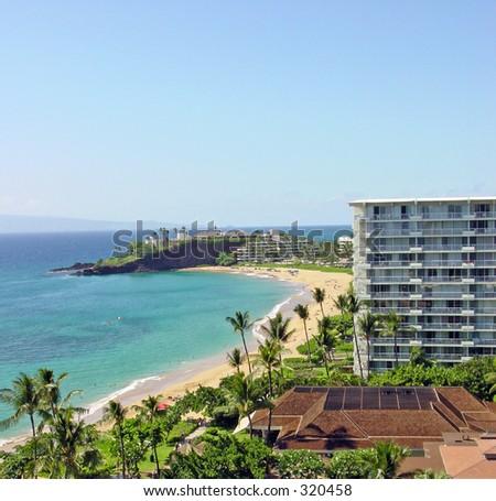 Maui Beach View - stock photo