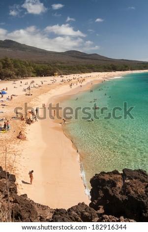 Maui - Big Beach - stock photo