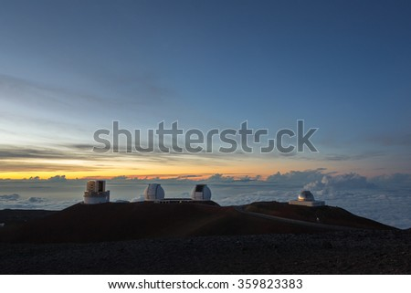 Maunakea observatory (Hawaii - big island)