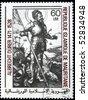 "MAURITANIE - CIRCA 1978: A stamp printed in Islamic Republic Mauritanie shows engraver by Albrecht Durer ""St George abd Snake"", circa 1978 - stock photo"