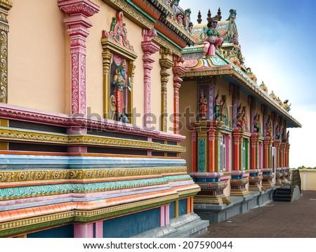 Mauritius. Hindu temple. - stock photo