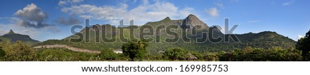 Mauritius, panoramic view of mountains