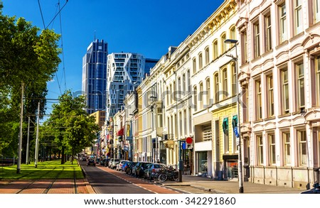 Mauritsweg street in Rotterdam - the Netherlands