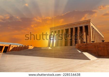 Mausoleum of Ataturk, Ankara Turkey  - stock photo