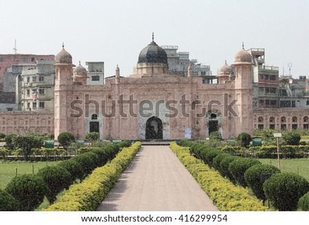 Mausoleum of Bibipari in Lalbagh fort, Dhaka, Bangladesh - stock photo