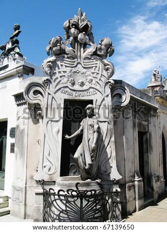 Mausoleum, Recoleta - stock photo