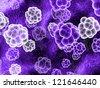 mauve molecules - stock photo