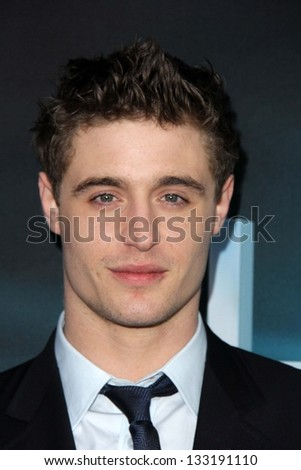 """Max Irons at """"The Host"""" World Premiere, Arclight, Hollywood, CA 03-19-13 - stock photo"""