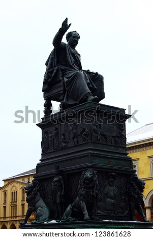 Max Joseph statue, Munich, Germany - stock photo