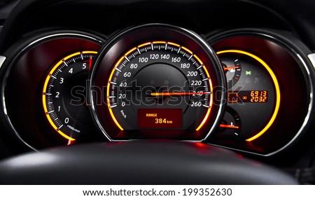 Maximal velocity - stock photo