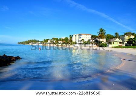 Maxwell Beach, near Oistins, Barbados - stock photo