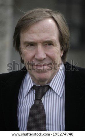 "MAY 16, 2014 - BERLIN: German football legend Guenter Netzer at the presentation of the ""Walk of Fame"" of soccer stars who decided games of the German soccer cup in the Olympic Stadium of Berlin."