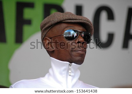 "MAY 29, 2006 - BERLIN: Maxi Jazz, singer of the band ""Faithless"" at the event ""Together for Africa"", Hackescher Markt, Berlin."