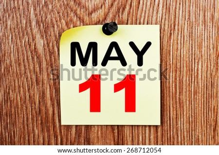 May 11 Calendar. Part of a set - stock photo