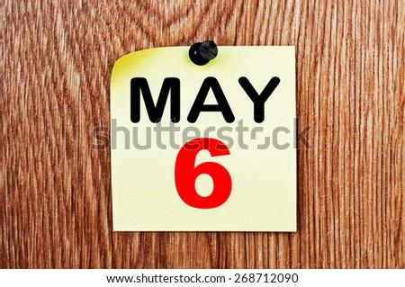 May 6 Calendar. Part of a set - stock photo