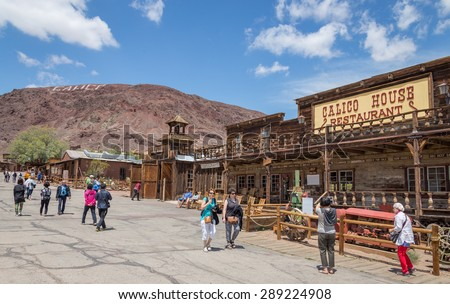 MAY 23. 2015- Calico, CA, USA: Calico is a ghost town in San Bernardino County, California, United States. Was founded in 1881 as a silver mining town. Now it is a county park. - stock photo