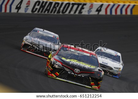 May 28, 2017 - Concord, NC, USA: Erik Jones (77) battles for position during the Coca Cola 600 at Charlotte Motor Speedway in Concord, NC.