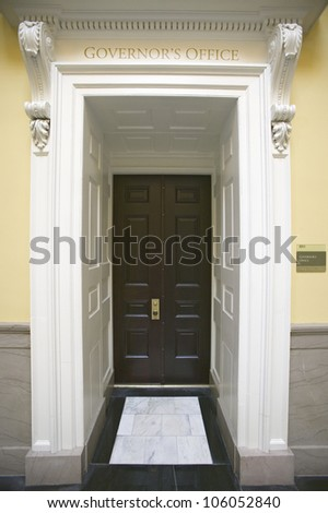 MAY 2007 - Doorway to Governor's Office of Virginia State Capitol, Richmond Virginia