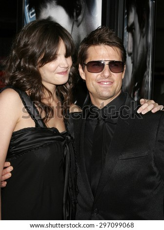 """May 4, 2006. Katie Holmes and Tom Cruise attend the Los Angeles Fan Screening of """"Mission: Impossible III"""" held at the Grauman's Chinese Theatre in Hollywood, California United States.  - stock photo"""