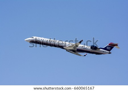 May 27, 2015. Los Angeles International Airport (LAX). US Airways Express (Mesa) Bombardier CRJ-900ER