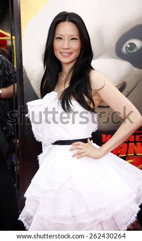 "May 22, 2011. Lucy Liu at the Los Angeles premiere of ""Kung Fu Panda 2"" held at the Grauman's Chinese Theater, Los Angeles.  - stock photo"