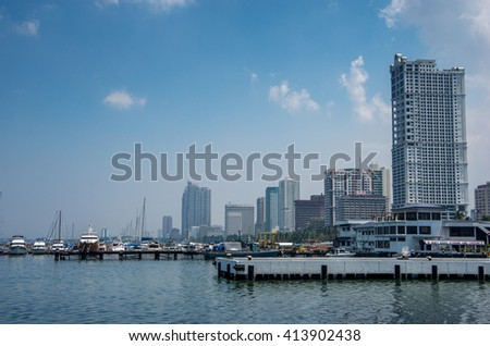 May 1 , 2016 Manila Bay,  Metro  Manila Philippines  - stock photo