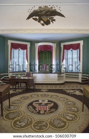 MAY 2007 - The room where John Adams was sworn in in 1797 as the second President of the United States, Independence Hall, Philadelphia, Pennsylvania